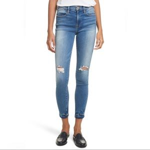 Frame Le High Rise Skinny Distressed Roman Jeans
